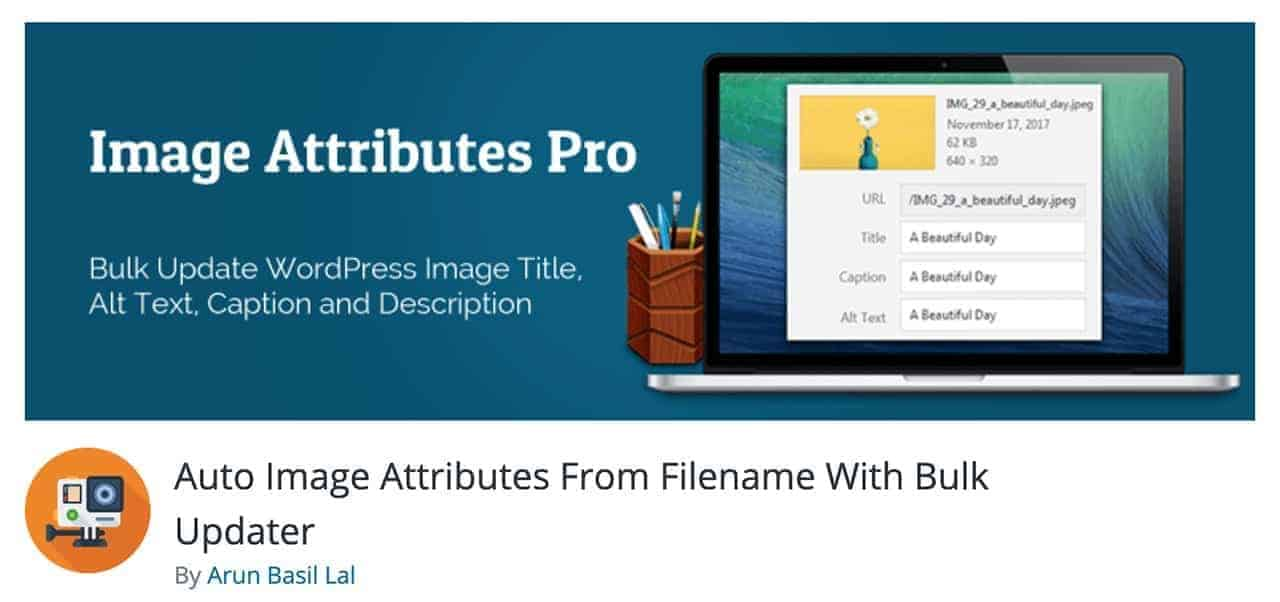 auto image attributes wordpress plugin