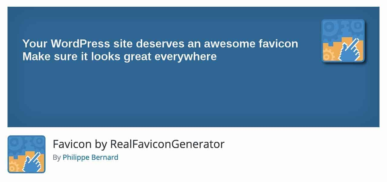 favicon by realfavicongenerator wordpress plugin