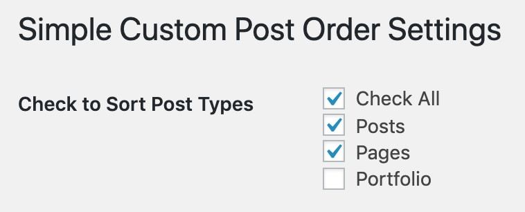 simple custom post order setup