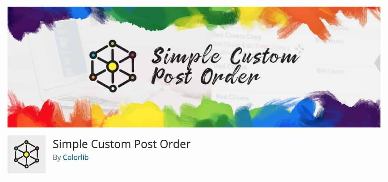 simple custom post order wordpress plugin