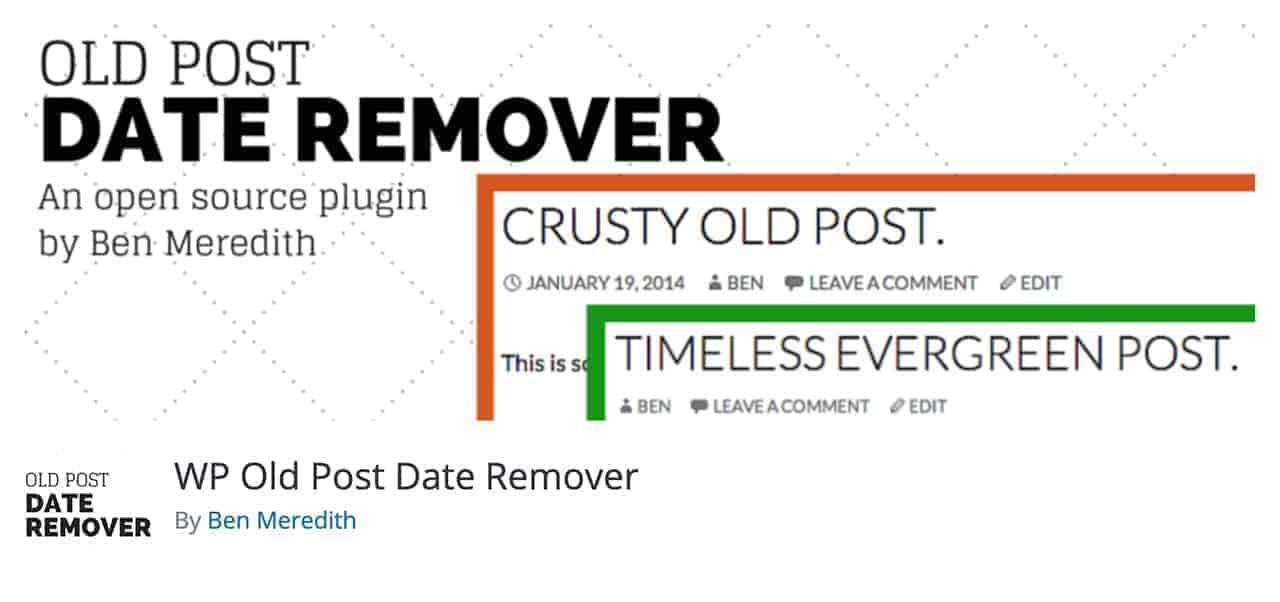 wp old post date remover wordpress plugin