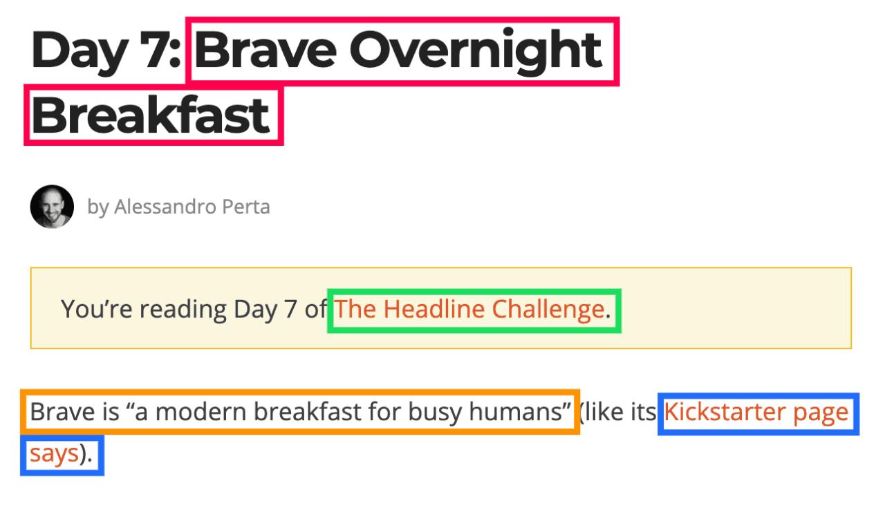 brave overnight breakfast seo analysis