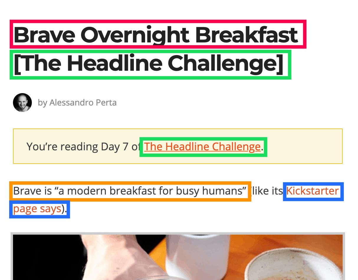 brave overnight breakfast seo optimization