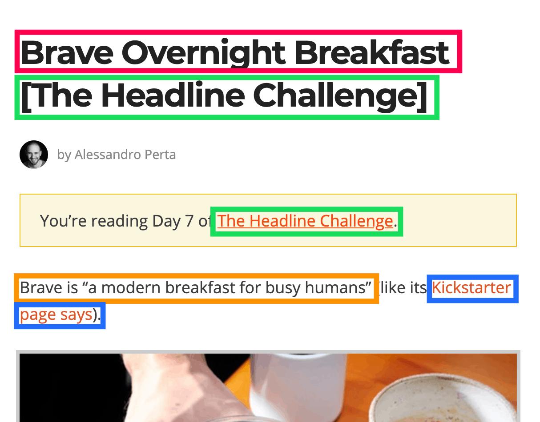 brave overnight breakfast seo optimization