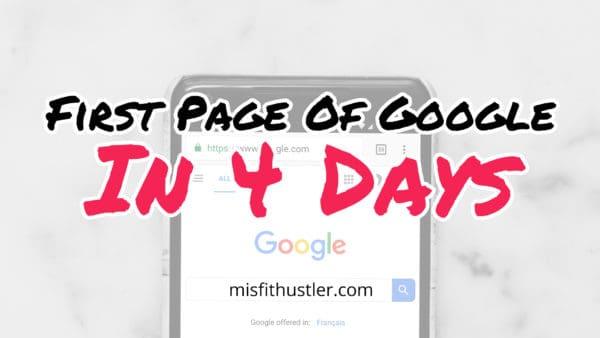 fast google ranking