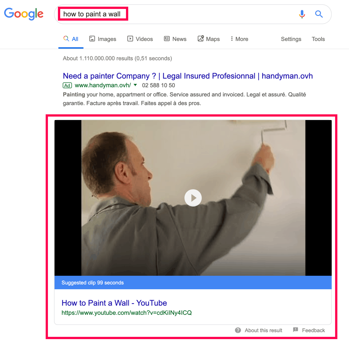 how to paint a wall google search results