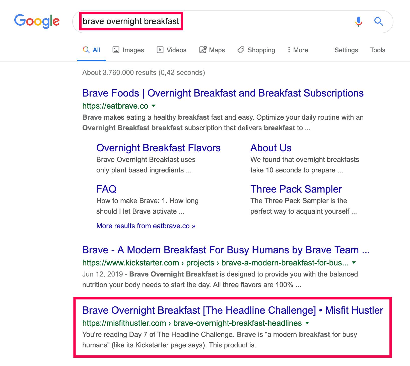 fast google ranking back in serp