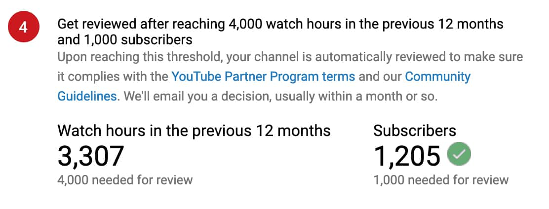 youtube monetisation 1000 subscribers 4000 watch hours