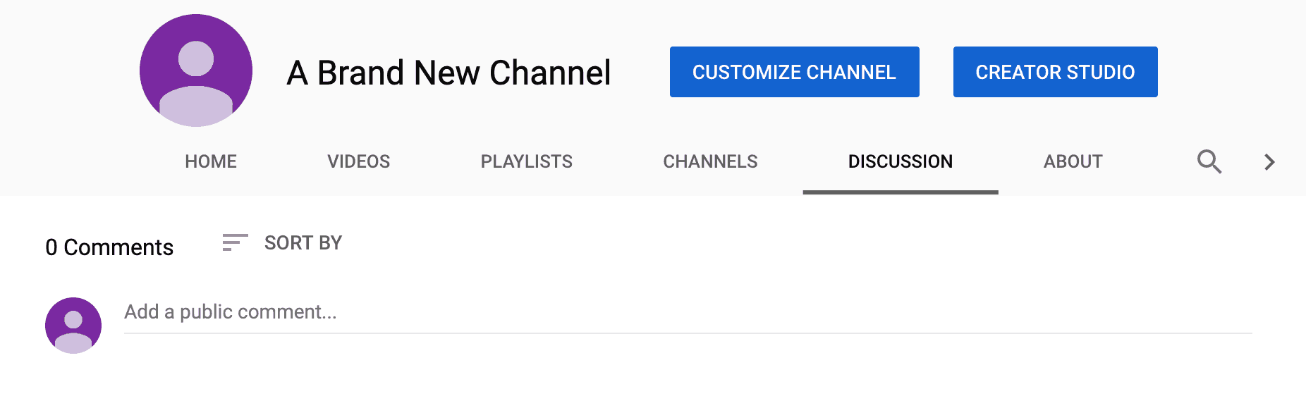 youtube channel discussion tab