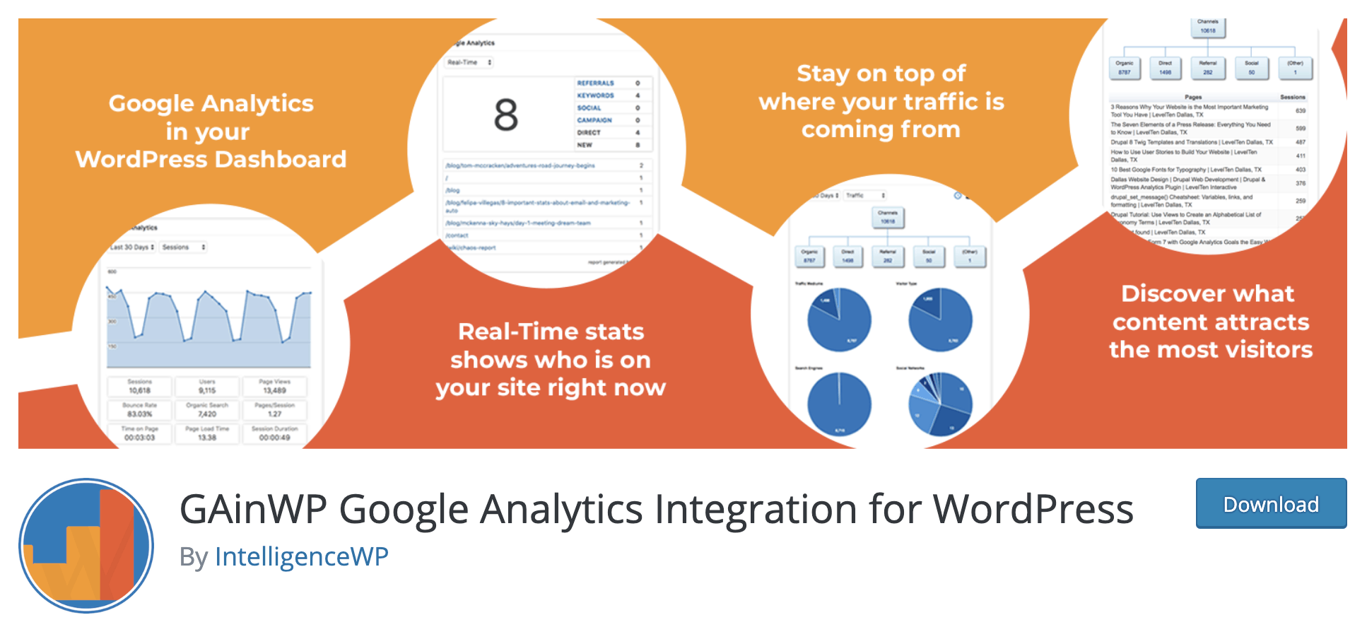 gainwp google analytics integration for wordpress